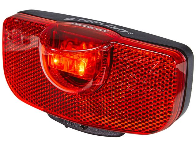 Busch + Müller D-Toplight permanent Batterie-Rücklicht schwarz/rot